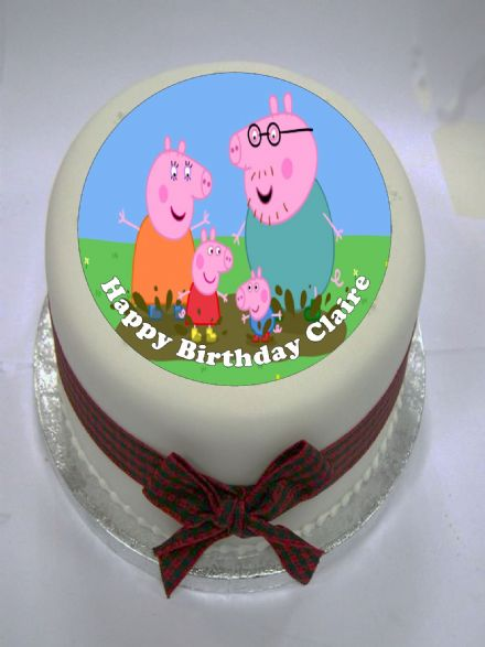 Peppa Pig Edible Cake Topper